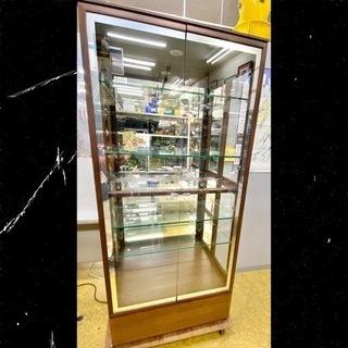 【美品】ガラスショーケース キャビネット★キュリオ80