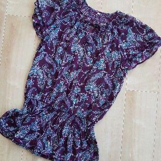 紫 ペイズリー柄のチュニック