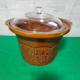 陶器鍋とガラス蓋