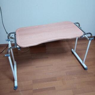 伸縮ベッドテーブル キャスター付き