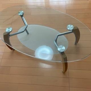 【決まりました】あげます ガラステーブル 110cmぐらい