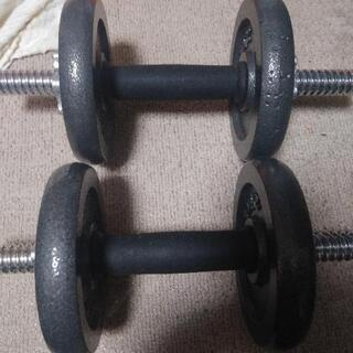 ダンベル30キロ×2個とベンチプレス(組立前)