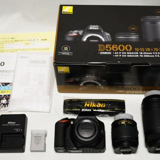 【ネット決済】☆超美品 Nikon D5600 ダブルズームキッ...