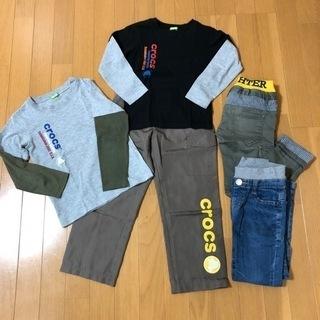 120cm子供服 クロックスcrocs長T2枚、ズボン3本