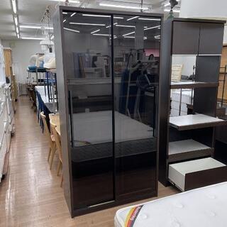 スライド扉付レンジボード 食器棚 キッチン収納 目隠し 幅10...