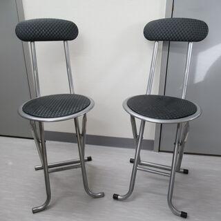 パイプ椅子(座面丸型)2脚