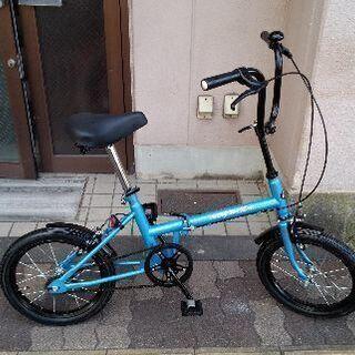 [BW]16吋 折り畳み自転車 シングル/ブルー