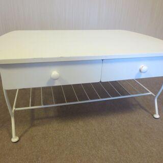 ホワイト 白 テーブル 4杯 机 センターテーブル ローテーブル...
