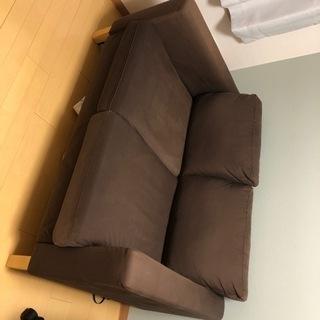 IKEA ソファ 茶色