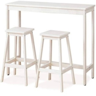 【ネット決済】カウンターテーブル スツール セット 幅100 ホワイト