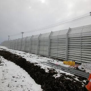 防雪柵設置作業 手元作業
