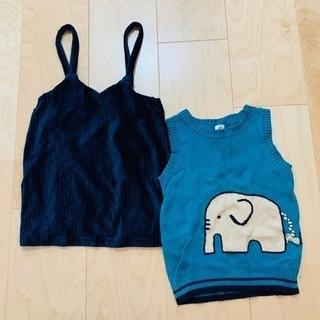 ♥女の子ニットベスト2枚セット♥80〜95㌢子供服
