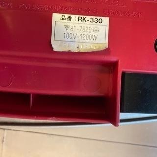 赤色でかわいい ホットプレート