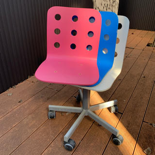 IKEA 子供椅子 キャスター 座面3色付き