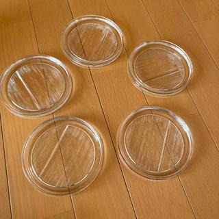 透明のガラスの皿 5枚
