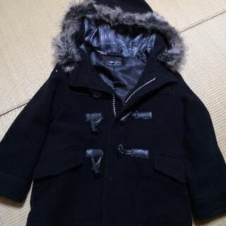 コムサの黒色のフード付きの上着