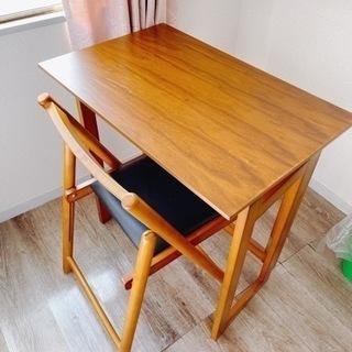 【美品】折り畳み式 机&椅子セット①