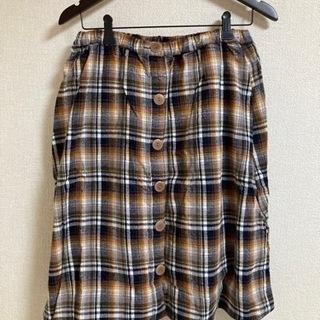 チェック柄 スカート レディース Size M ボタン