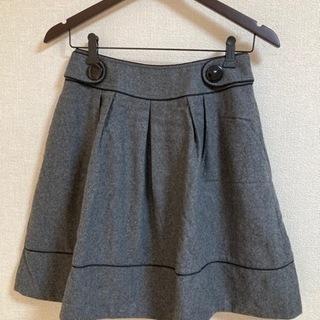 グレー スカート レディース Size M 可愛い デート オシ...