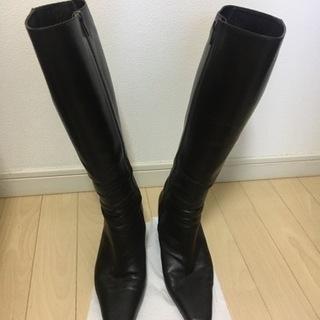 ブーツ(23cm EE)ブラウン色
