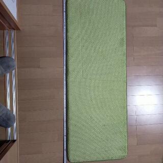 【ネット決済】ふわふわ緑キッチンマット