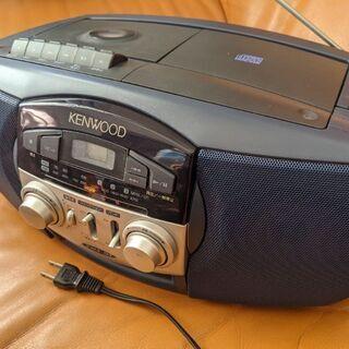 KENWOOD ラジカセ ラジオ CD テープ 中古
