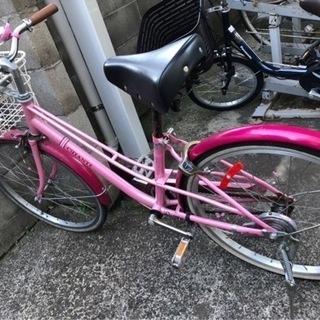 【ネット決済】中古女の子用自転車22インチ