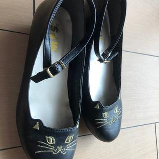 ☆猫ちゃん黒靴 22センチ☆