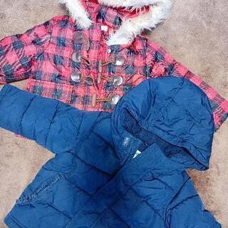 中綿入りフード付ジャンパー90センチ 子ども服