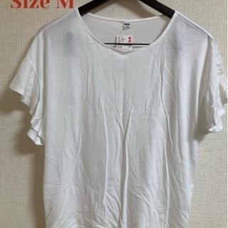 ユニクロ Tシャツ ホワイト タグ付き レディース Size M...