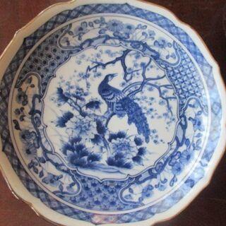 ◆未使用品 孔雀が描かれた素敵な和皿◆5枚で1400円