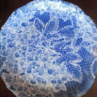◆未使用品 浜九郎 紫陽花が描かれた和皿◆5枚で730円