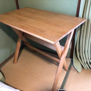 作業机 工作机 作業台 テーブル 小型 木製 折り畳み式 …
