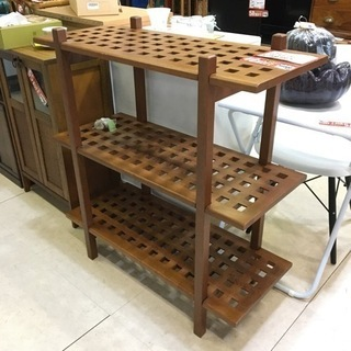ラック アジアン 木製 高さ調節 ブラウン 茶色 飾り棚 …