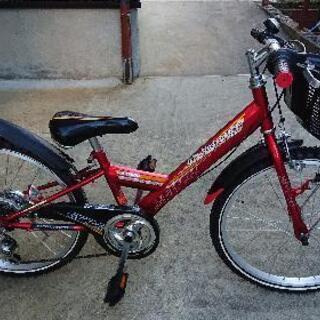 【ネット決済・配送可】子供自転車 22インチ ヘルメットセット