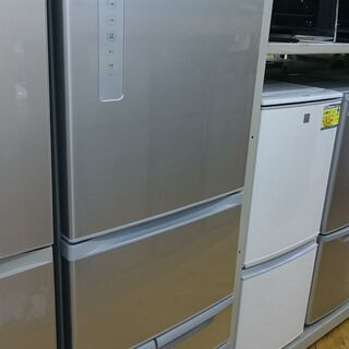 (真ん中野菜室タイプの)東芝 5ドア冷蔵庫410L 201…