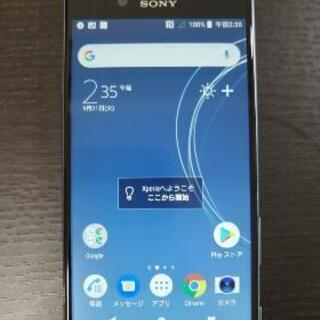 ◎Xperia XZs 中古スマホ ブルー 液晶画面交換修…