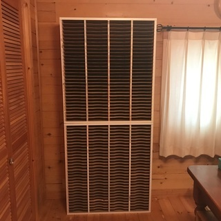 木製書類棚 30段×4列のキャビネット2つセット 希少品