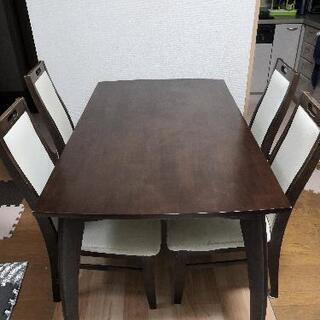 【ネット決済】ダイニングテーブル+椅子4脚