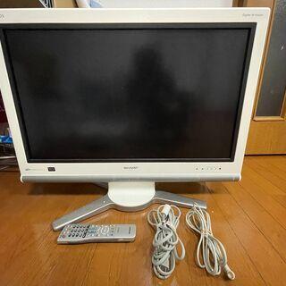 【無料】SHARP 液晶カラーテレビ(ホワイト)32インチ…