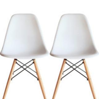 ホワイト 椅子 2脚