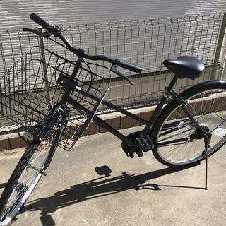 27インチ 自転車 クロ 鍵付