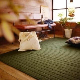 織り感のあるキルトラグ【ホットカーペットカバー】(色:グリ…
