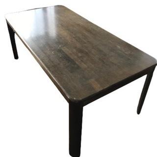 大きなダイニングテーブル 170cm×90cm ダークブラ…