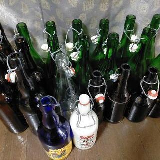 【ネット決済】蓋付きガラス瓶(ガラス瓶、キャニスター)23本