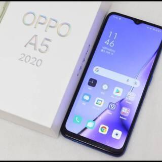 美品 OPPO A5 2020 ブルー 4GB/64GB CPH...