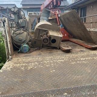 不要にな鉄屑、農機具、各種機械