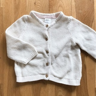 H&M カーディガン 70サイズ 中古 白 子供服 ホワイト キッズ