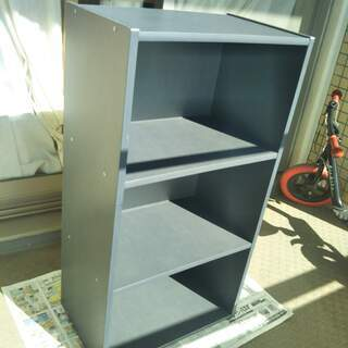 ●カラーボックス 3段 グレー