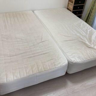 無印良品シングルベッド2台